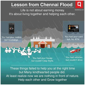 Chennai Rains - Lessons Learnt - Nature is Supreme